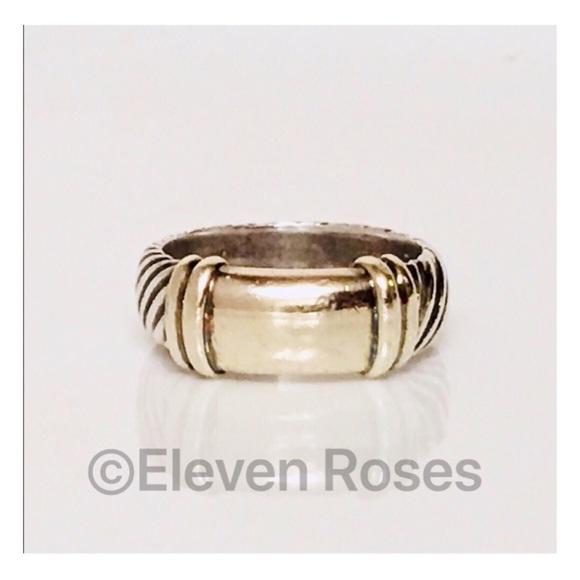 a1baf40f0 David Yurman Jewelry - David Yurman Sterling & 14k Wide Metro Band Ring